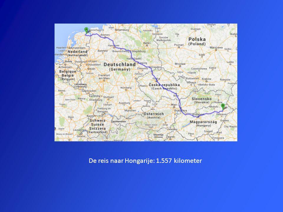 De reis naar Hongarije: 1.557 kilometer