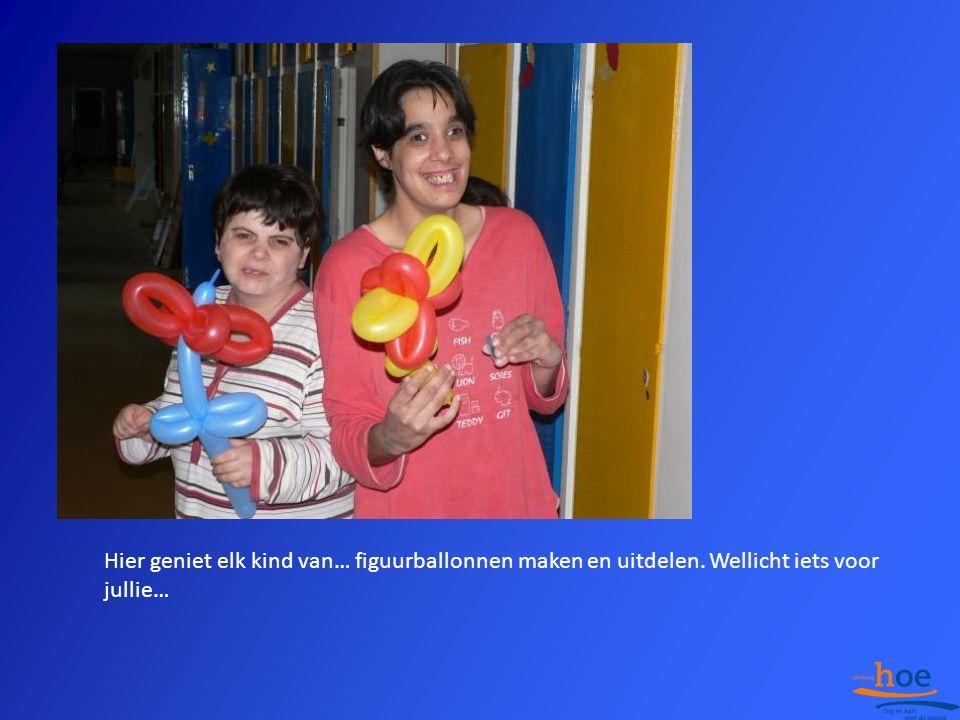 Hier geniet elk kind van… figuurballonnen maken en uitdelen. Wellicht iets voor jullie…