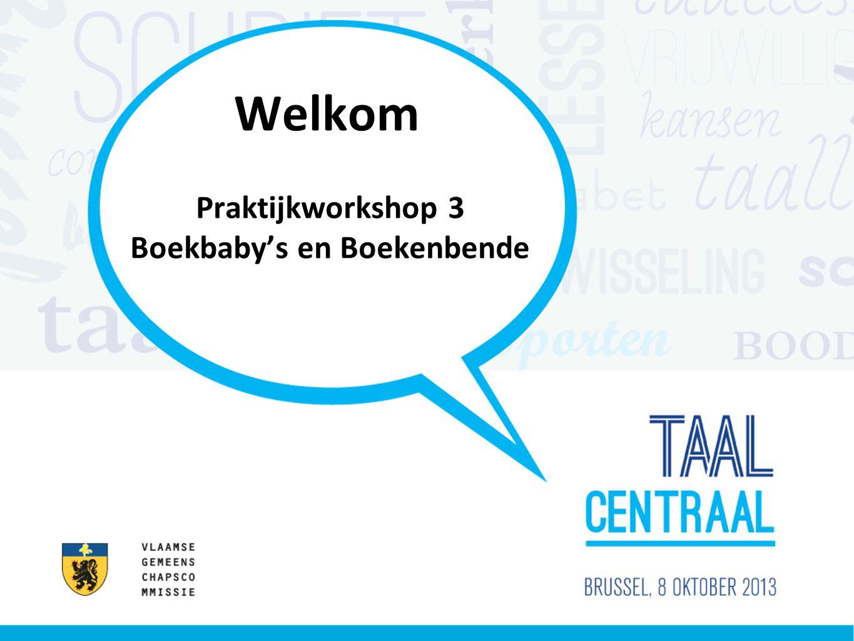 Welkom Praktijkworkshop 3 Boekbaby's en Boekenbende
