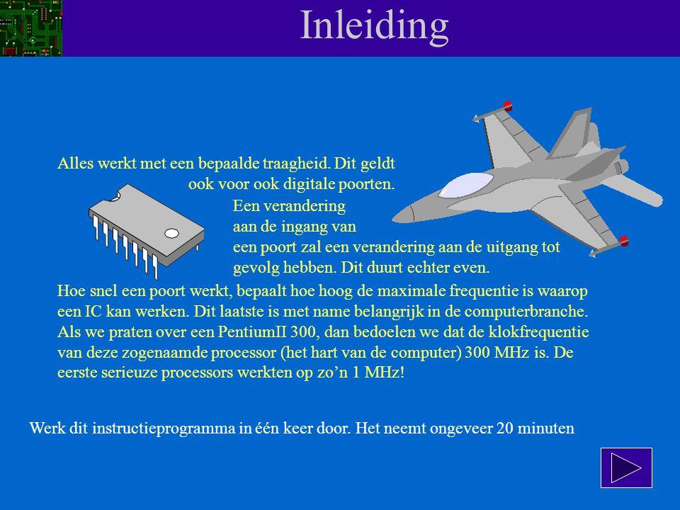 Snelheid van digitale IC's Instructieprogramma Behoort bij OPEN LEERTAAK OT 4.3.1 Friesland College opleiding MKO-E Klik op deze toets