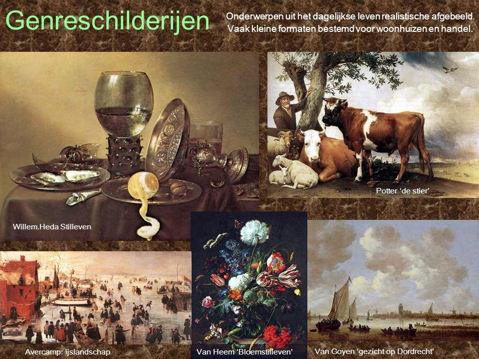 Genreschilderijen Potter 'de stier' Onderwerpen uit het dagelijkse leven realistische afgebeeld. Vaak kleine formaten bestemd voor woonhuizen en hande