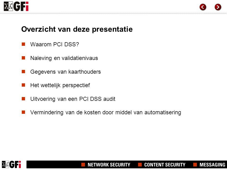 Overzicht van deze presentatie  Waarom PCI DSS.