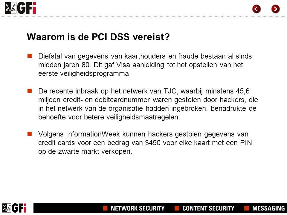 Waarom is de PCI DSS vereist.