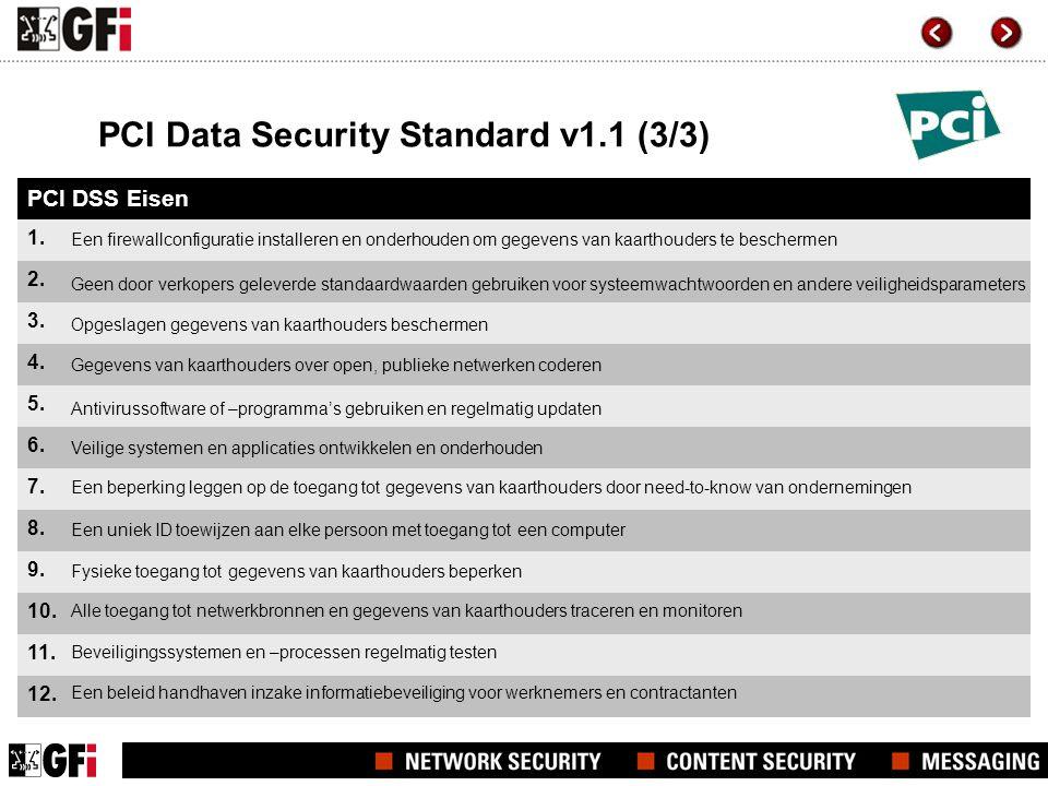 PCI Data Security Standard v1.1 (3/3) PCI DSS Eisen 1.