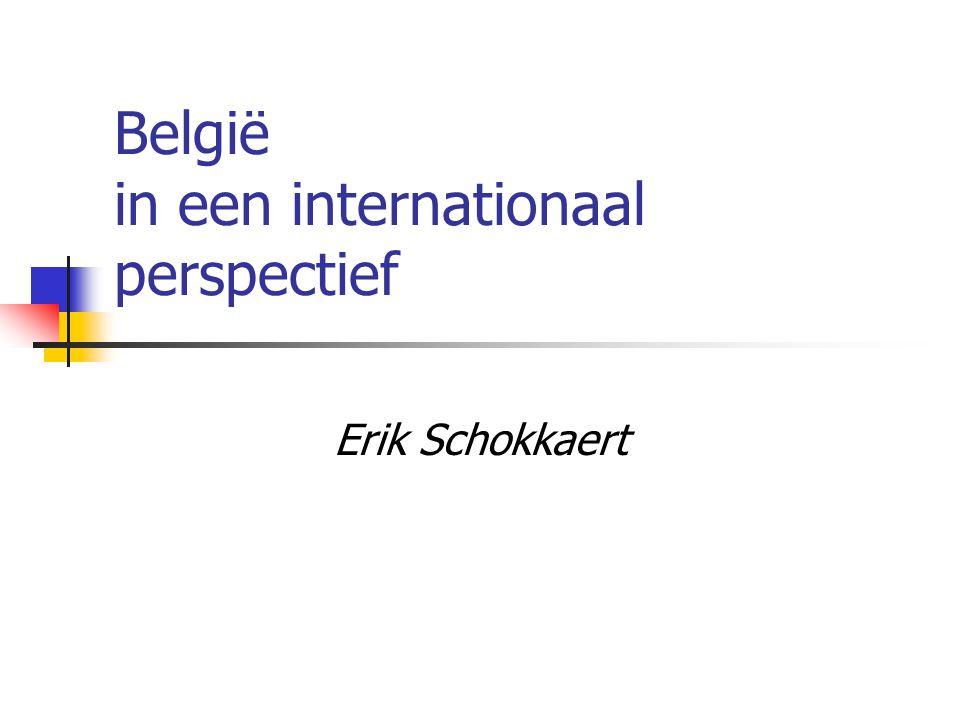 België in een internationaal perspectief Erik Schokkaert