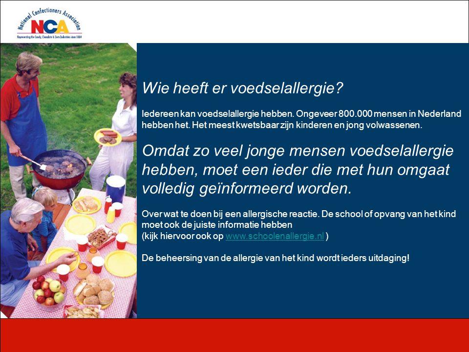 Wie heeft er voedselallergie? Iedereen kan voedselallergie hebben. Ongeveer 800.000 mensen in Nederland hebben het. Het meest kwetsbaar zijn kinderen