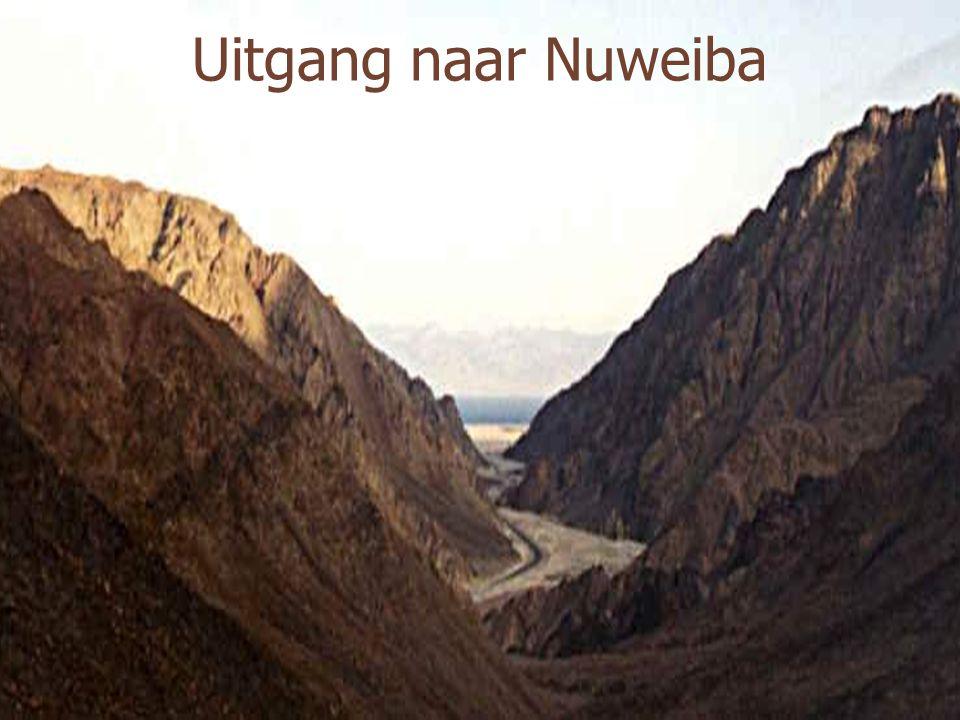 Luchtfoto van het strand van Nuweiba Satellietfoto van deze vallei, die maar één uitweg heeft : het strand van Nuweiba!