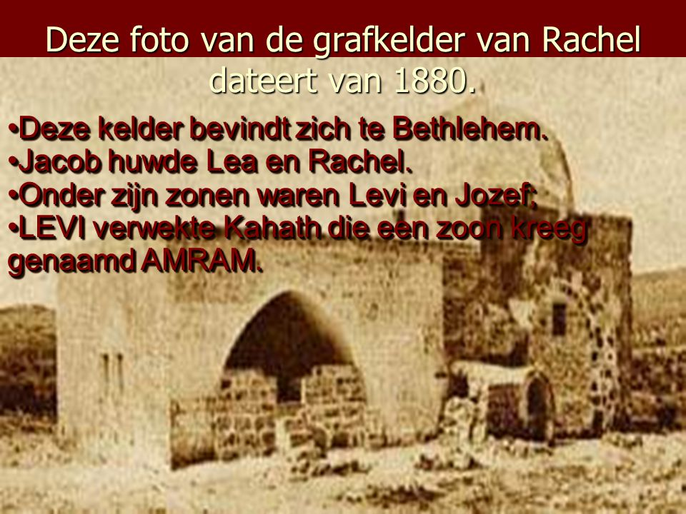 De zoon van Isaac, Jacob heeft een waterput gegraven nabij Sichar. Deze afbeelding dateert van 1884. Deze waterput bestaat vandaag nog steeds binnen d