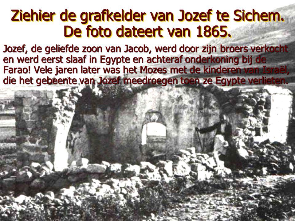 Deze foto van de grafkelder van Rachel dateert van 1880. •Deze kelder bevindt zich te Bethlehem. •Jacob huwde Lea en Rachel. •Onder zijn zonen waren L