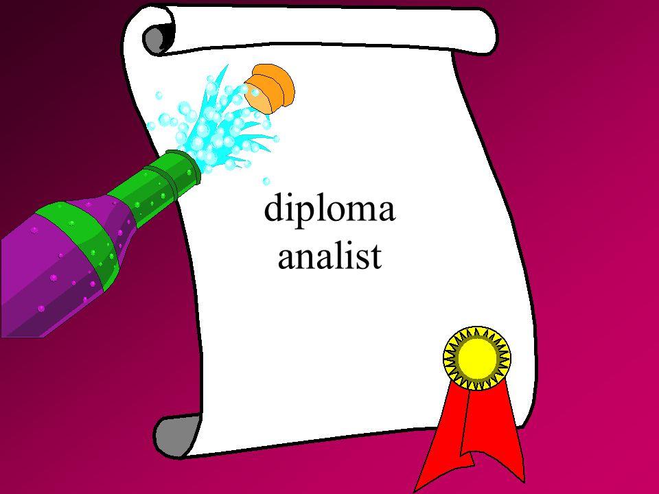 diploma analist