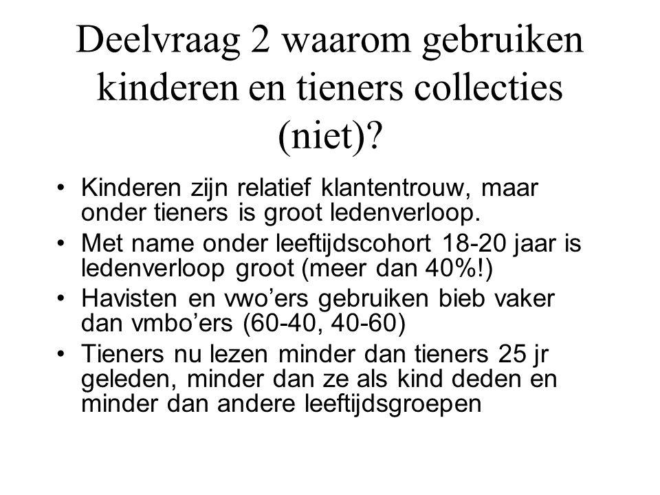 Conclusie •Collectie kan beter aansluiten op behoeften kinderen.