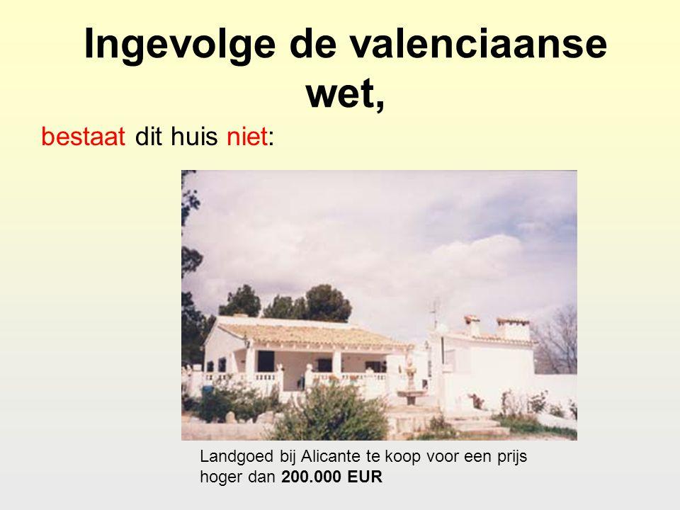 Ingevolge de valenciaanse wet, bestaat dit huis niet: Landgoed bij Alicante te koop voor een prijs hoger dan 200.000 EUR