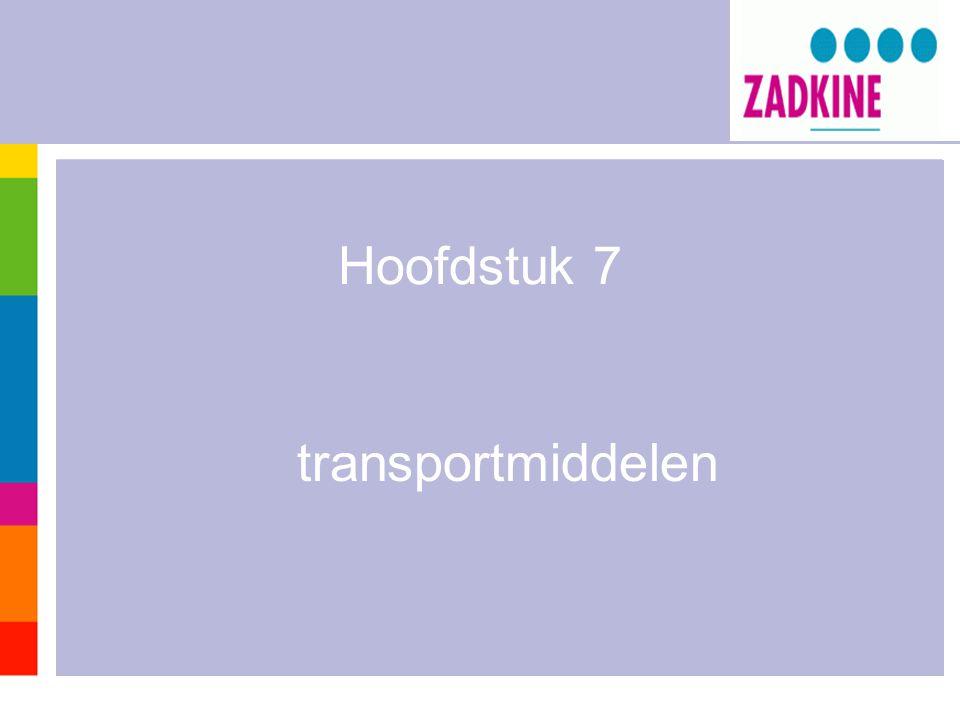 Rijdende transportmiddelen zijn niet gebonden aan een plaats.