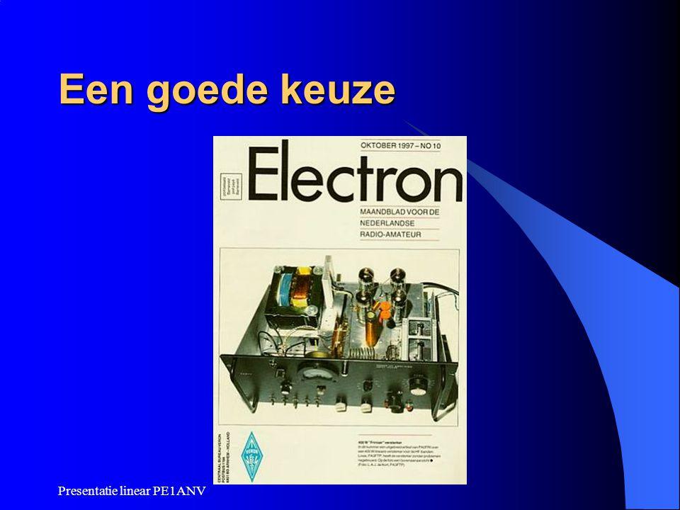 Presentatie linear PE1ANV Een goede keuze