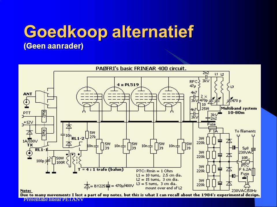 Presentatie linear PE1ANV Goedkoop alternatief (Geen aanrader)
