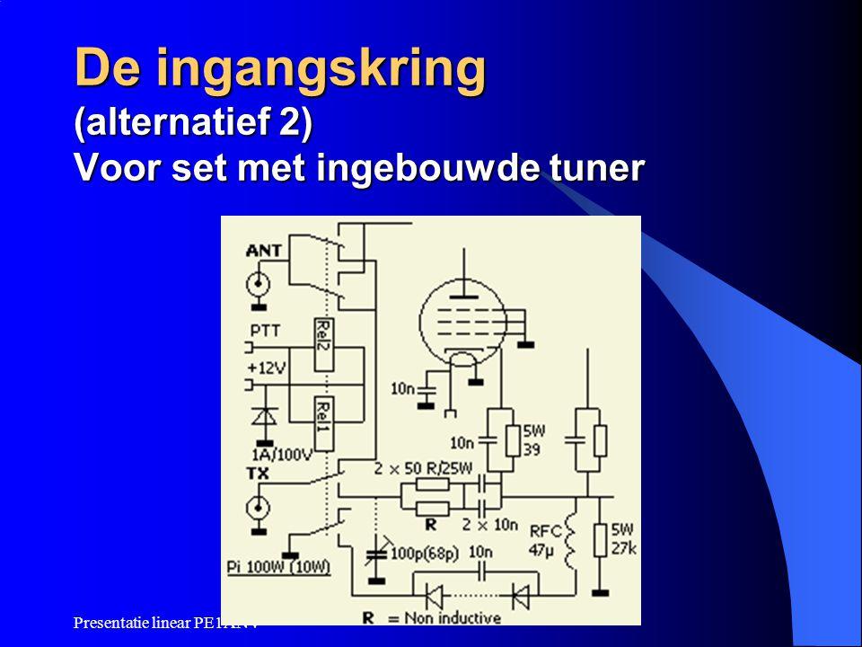 Presentatie linear PE1ANV De ingangskring (alternatief 2) Voor set met ingebouwde tuner
