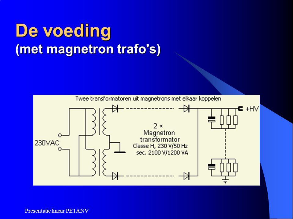 Presentatie linear PE1ANV De voeding (met magnetron trafo's)