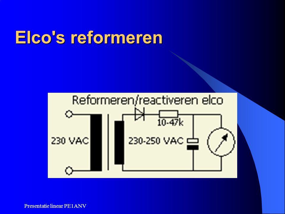Presentatie linear PE1ANV Elco's reformeren
