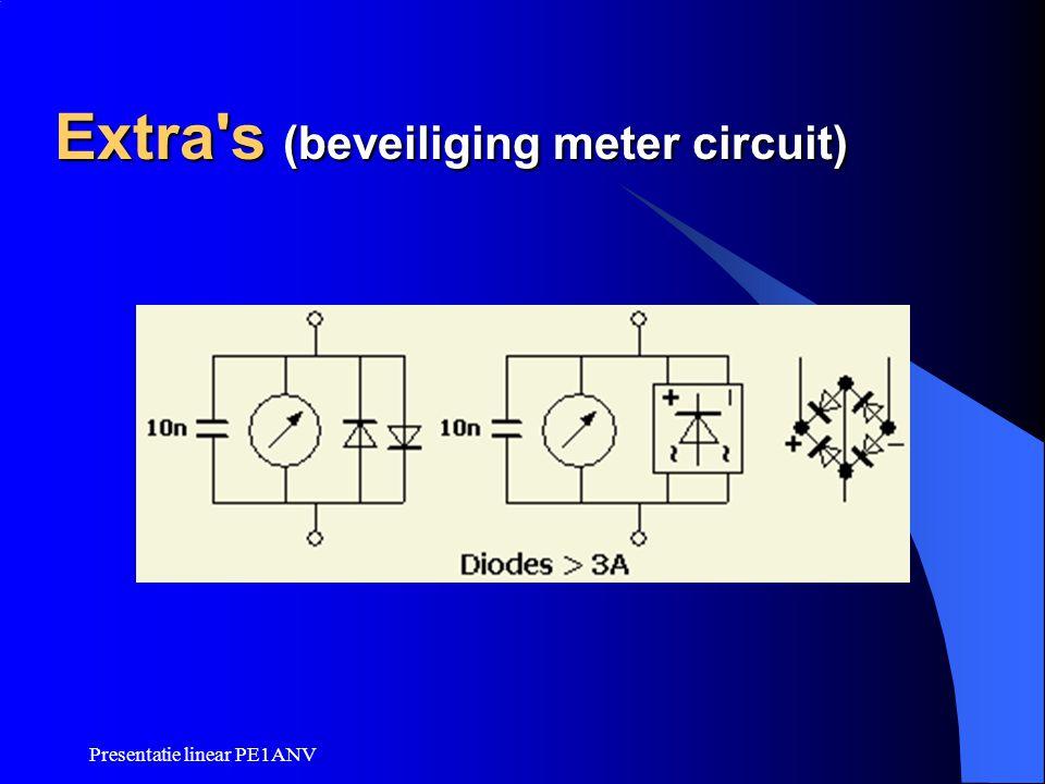 Presentatie linear PE1ANV Extra's (beveiliging meter circuit)