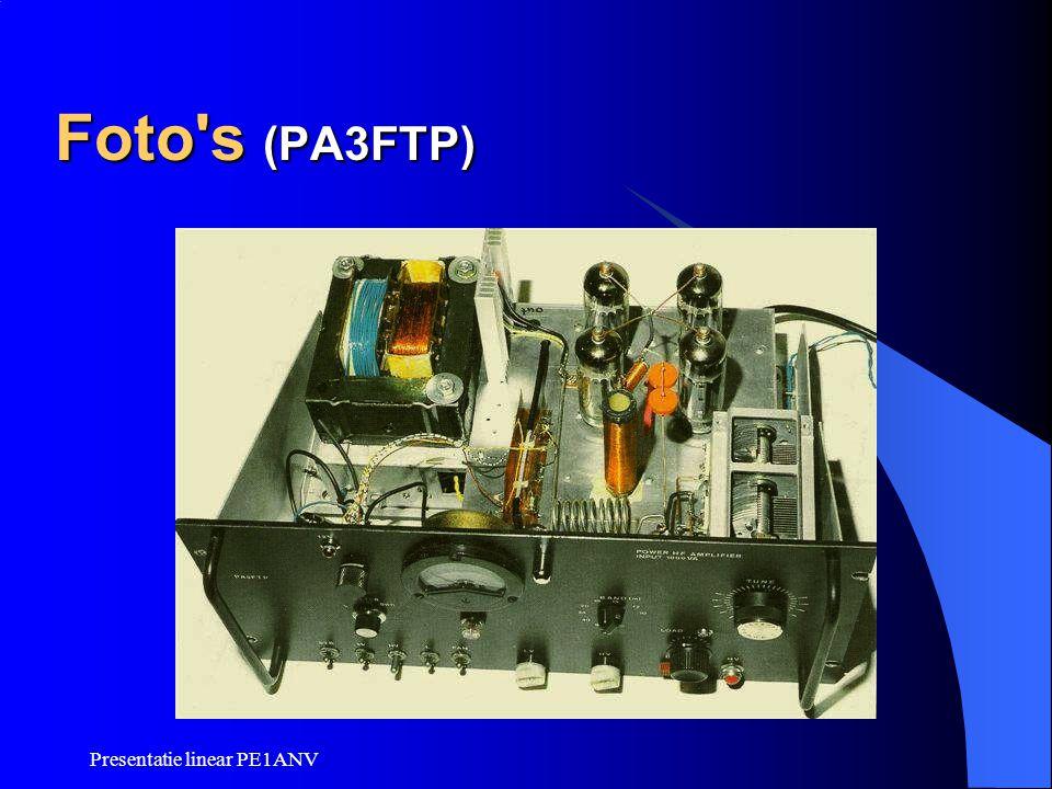 Presentatie linear PE1ANV Foto's (PA3FTP)