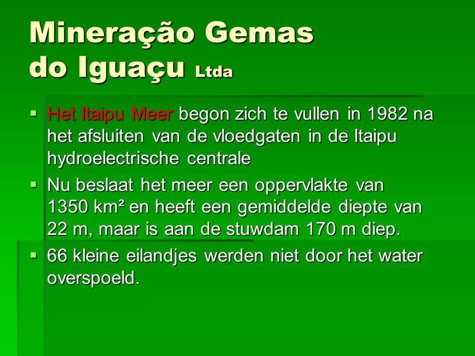 HHHHet Itaipu Meer begon zich te vullen in 1982 na het afsluiten van de vloedgaten in de Itaipu hydroelectrische centrale NNNNu beslaat het me