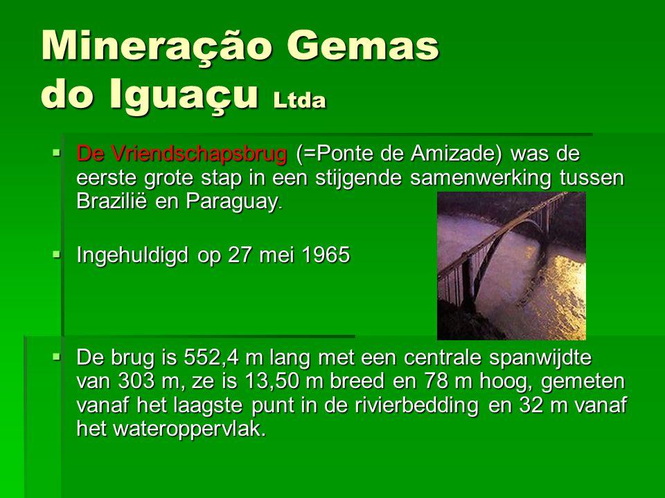 DDDDe Vriendschapsbrug (=Ponte de Amizade) was de eerste grote stap in een stijgende samenwerking tussen Brazilië en Paraguay. IIIIngehuldigd