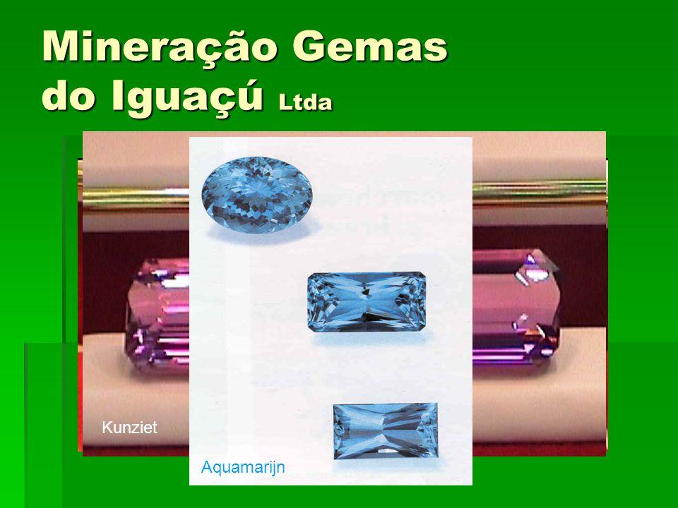 Mineração Gemas do Iguaçú Ltda Amethist Kunziet Aquamarijn