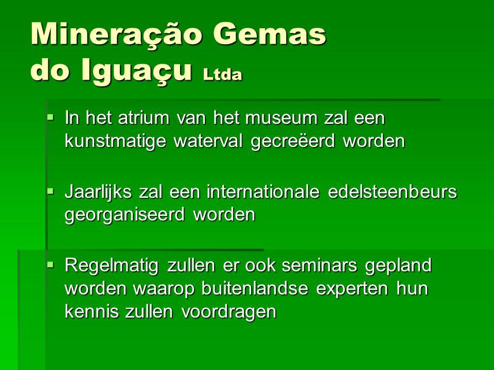 IIIIn het atrium van het museum zal een kunstmatige waterval gecreëerd worden JJJJaarlijks zal een internationale edelsteenbeurs georganiseerd