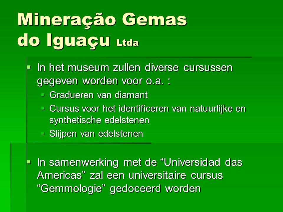 IIIIn het museum zullen diverse cursussen gegeven worden voor o.a. : GGGGradueren van diamant CCCCursus voor het identificeren van natuurl