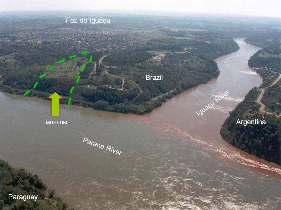 Parana River Iguaçu River MUSEUM Foz do Iguaçu Paraguay Argentina Brazil