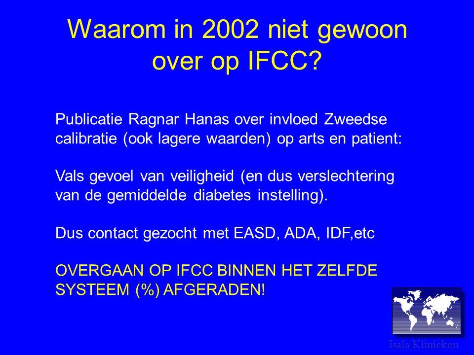 Waarom in 2002 niet gewoon over op IFCC.