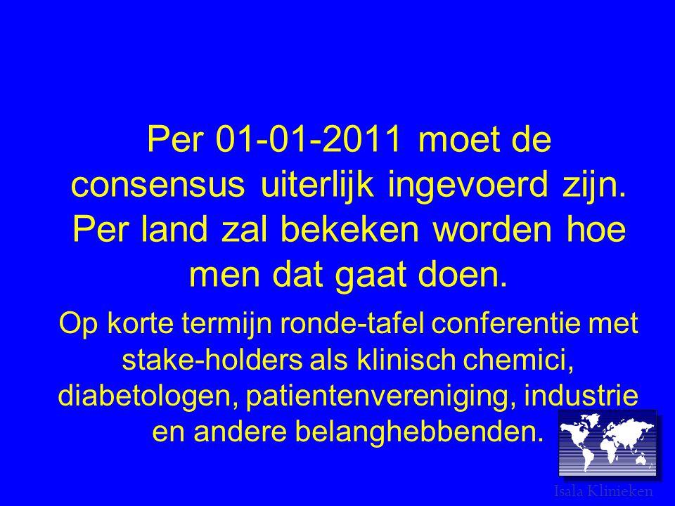Per 01-01-2011 moet de consensus uiterlijk ingevoerd zijn.