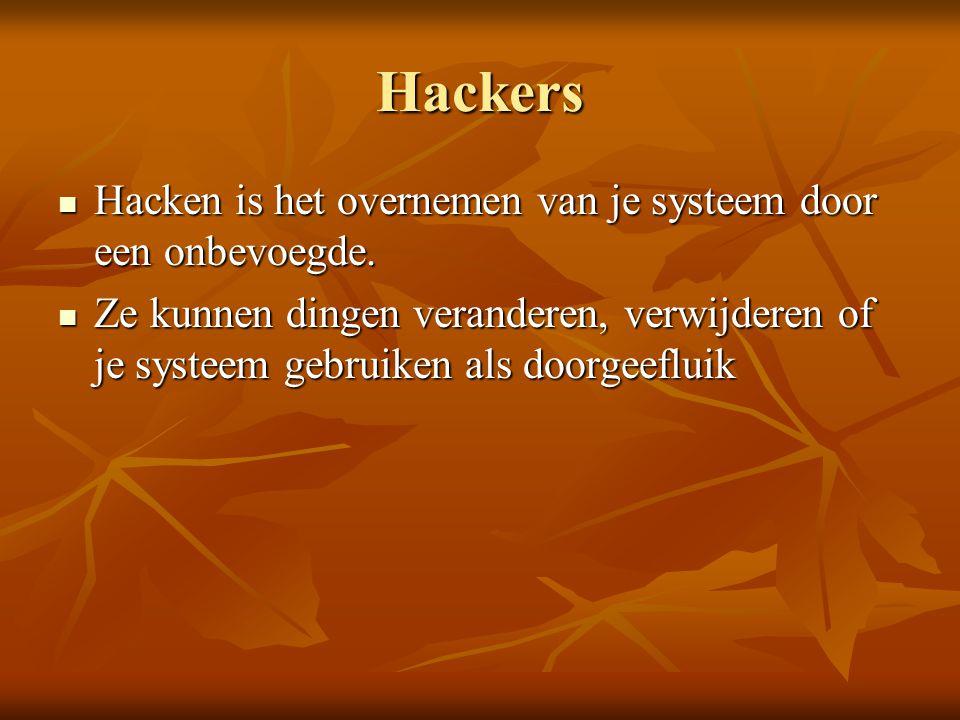 Bestrijding  Zorg voor een goede virusscanner. Hou de virusscanner up to date.