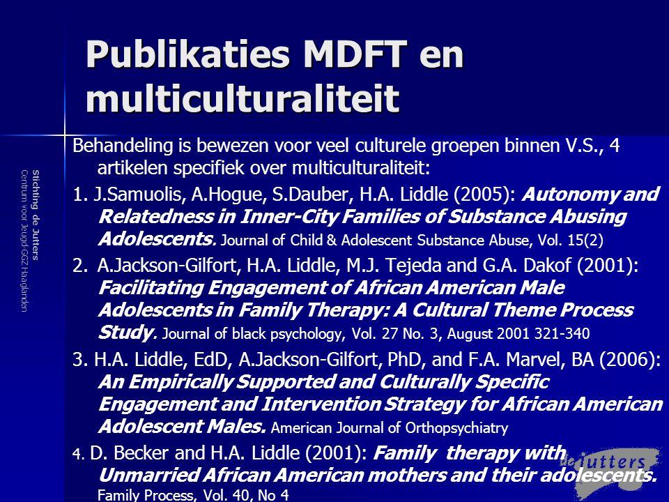 Stichting de JuttersCentrum voor Jeugd-GGZ Haaglanden MDFT en multiculturaliteit Zoeken naar een goede cultuurgevoelige behandeling kan zijn:  Valkuil  Uitdaging