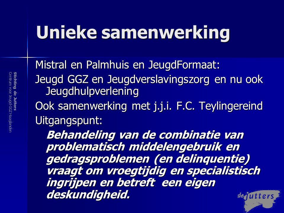 Stichting de JuttersCentrum voor Jeugd-GGZ Haaglanden M DFT: Nieuwe generatie van Interventies –Integratief, bijv.