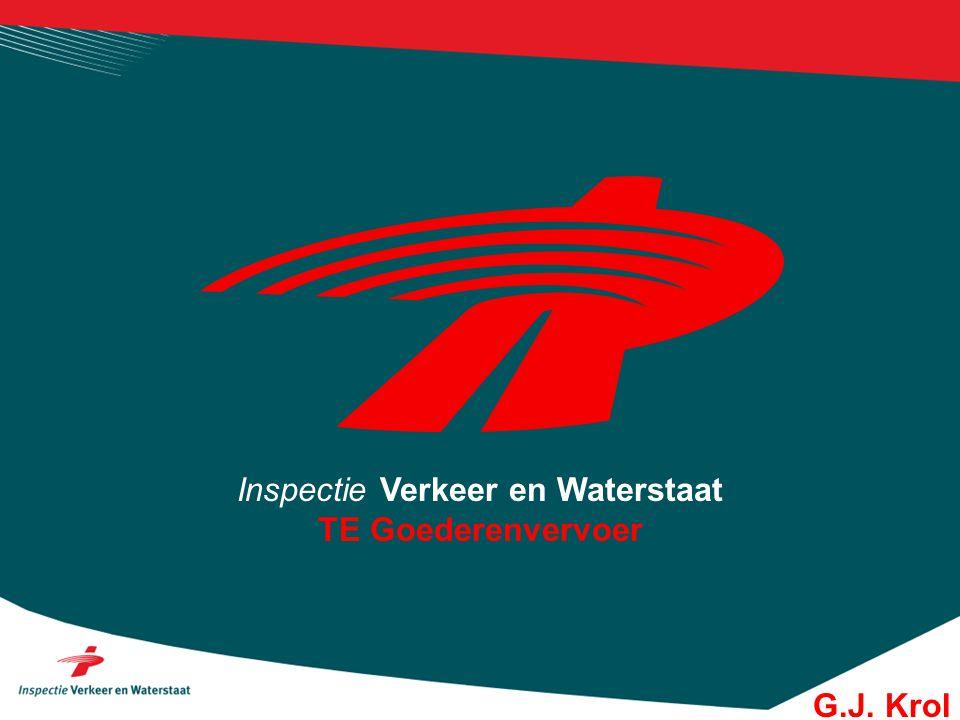 Inspectie Verkeer en Waterstaat TE Goederenvervoer G.J. Krol