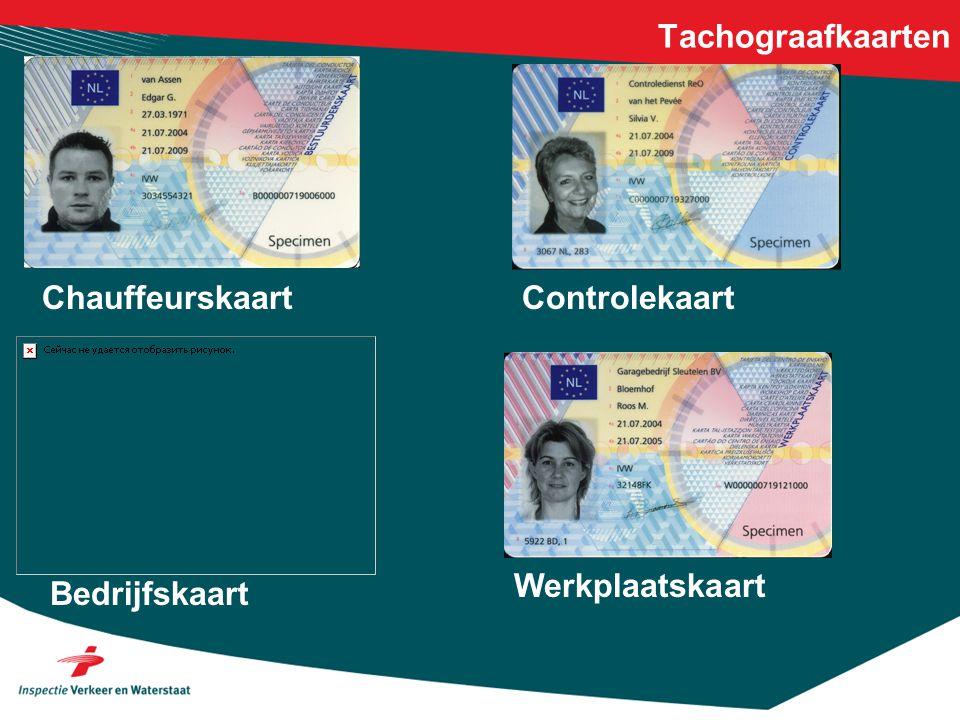 Tachograafkaarten Chauffeurskaart Bedrijfskaart Controlekaart Werkplaatskaart
