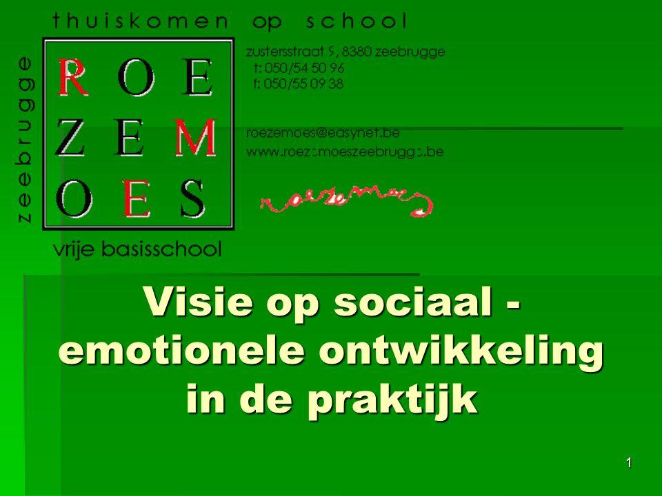 1 Visie op sociaal - emotionele ontwikkeling in de praktijk