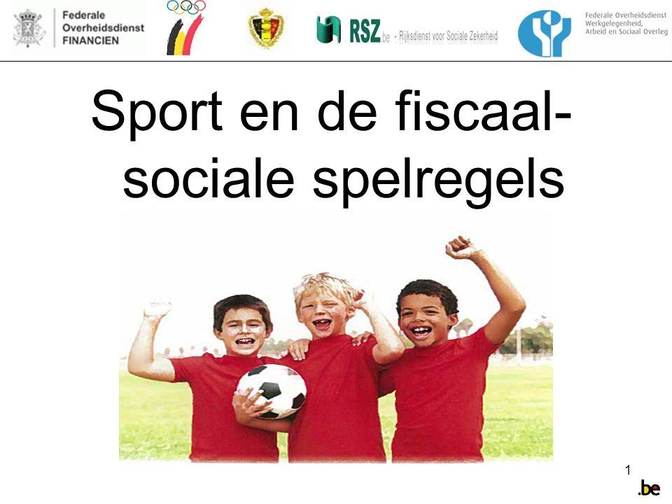 1 Sport en de fiscaal- sociale spelregels