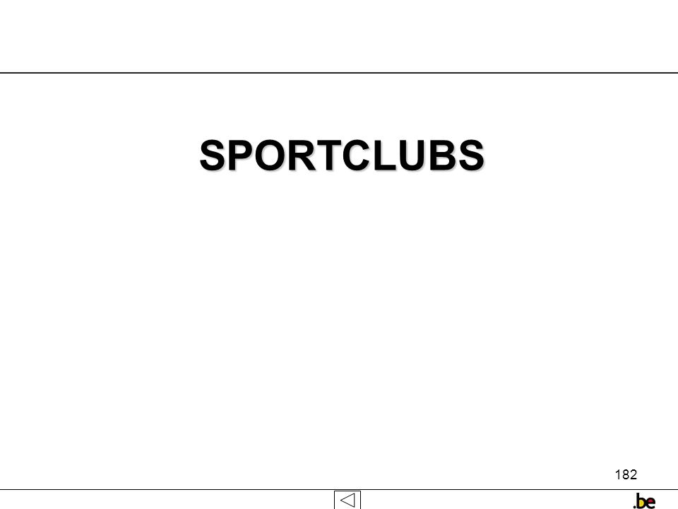 182 SPORTCLUBS