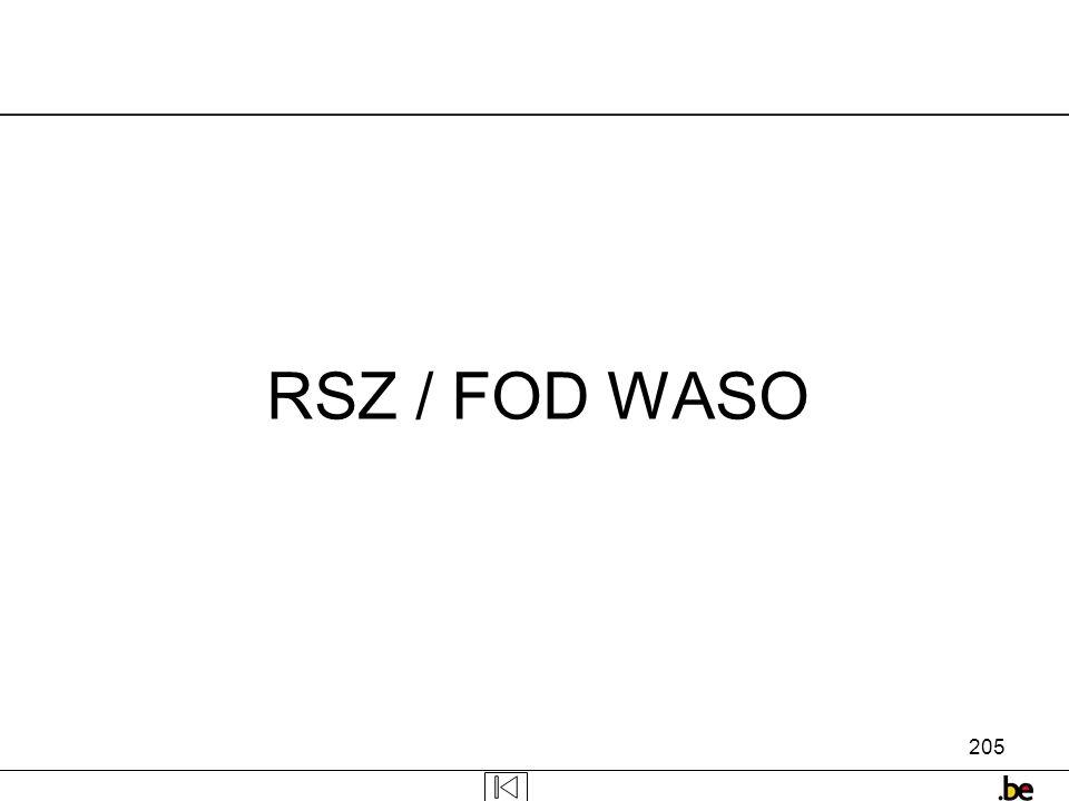205 RSZ / FOD WASO