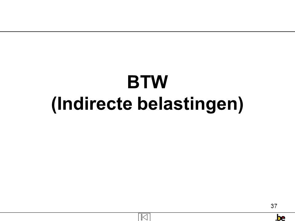 37 BTW (Indirecte belastingen)