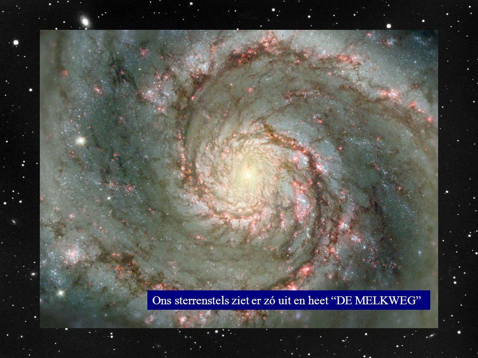 Ons sterrenstels ziet er zó uit en heet DE MELKWEG
