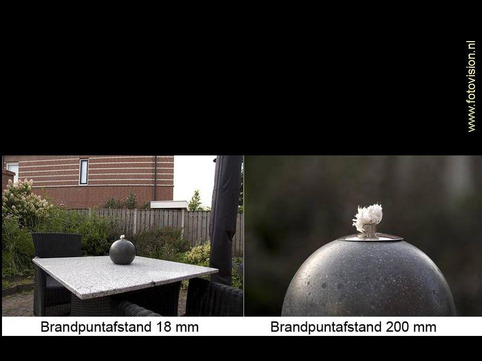 Diafragma Camera in rust, het diafragma staat helemaal open.