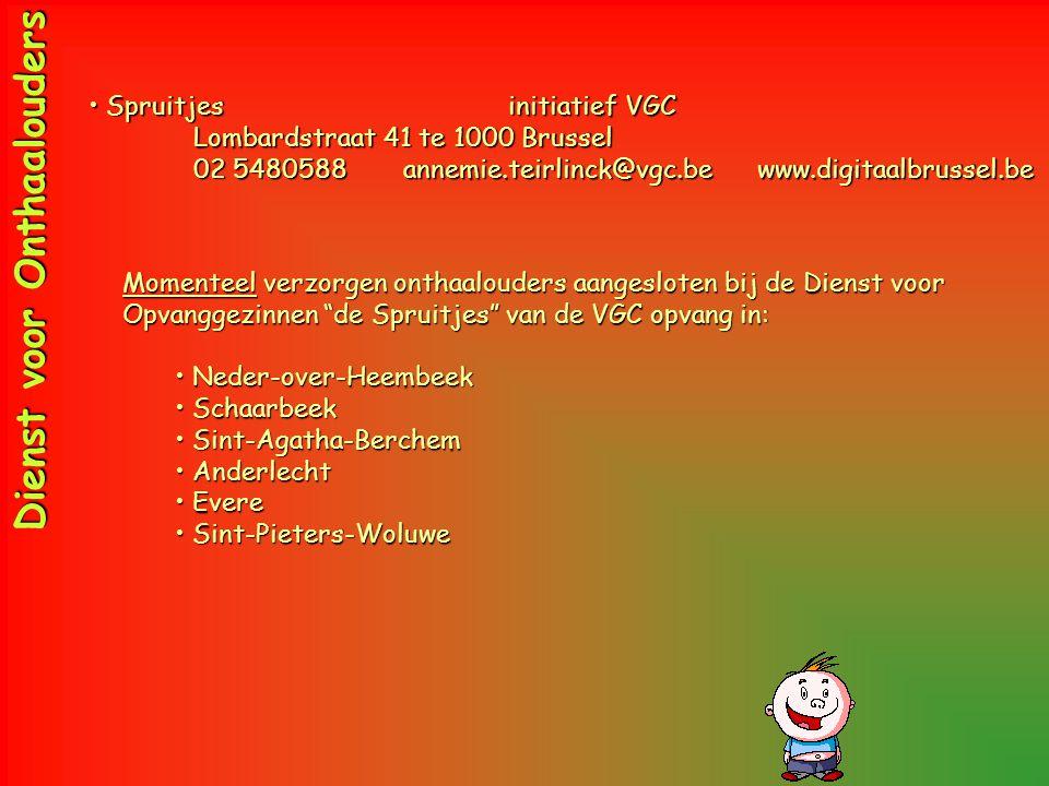 •Spruitjesinitiatief VGC Lombardstraat Lombardstraat 41 te 1000 Brussel 02 5480588 annemie.teirlinck@vgc.be www.digitaalbrussel.be Dienst voor Onthaal