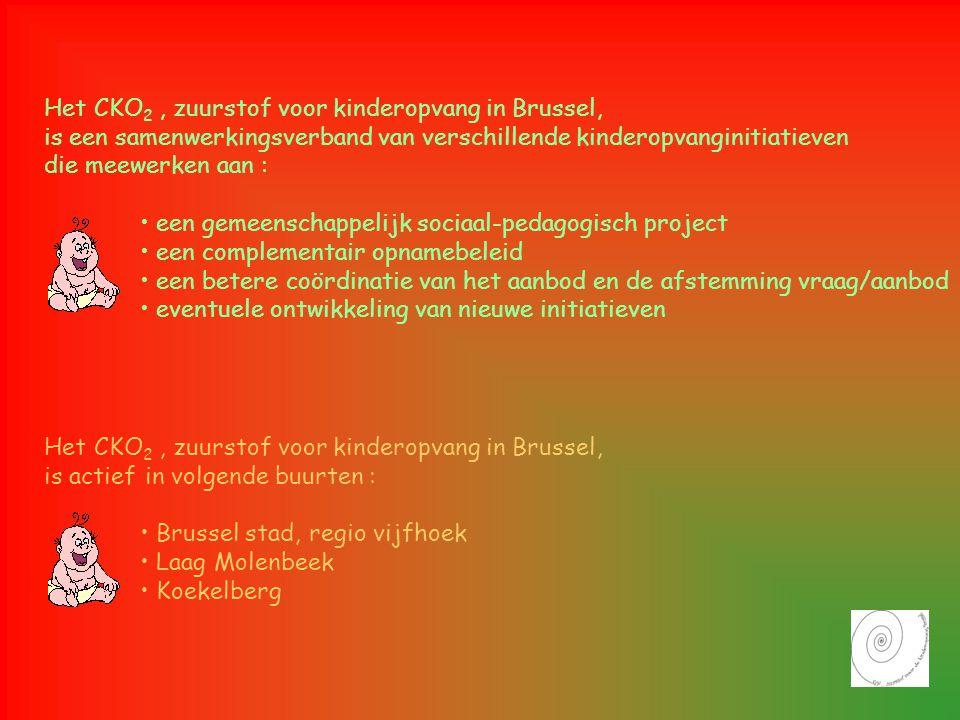 Het CKO 2, zuurstof voor kinderopvang in Brussel, is een samenwerkingsverband van verschillende kinderopvanginitiatieven die meewerken aan : • een gem