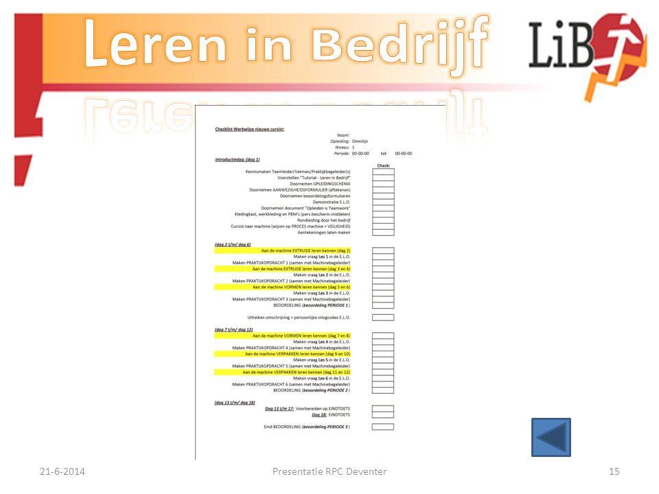 21-6-2014Presentatie RPC Deventer14 EINDE PRESENTATIE Bedankt voor uw belangstelling !!