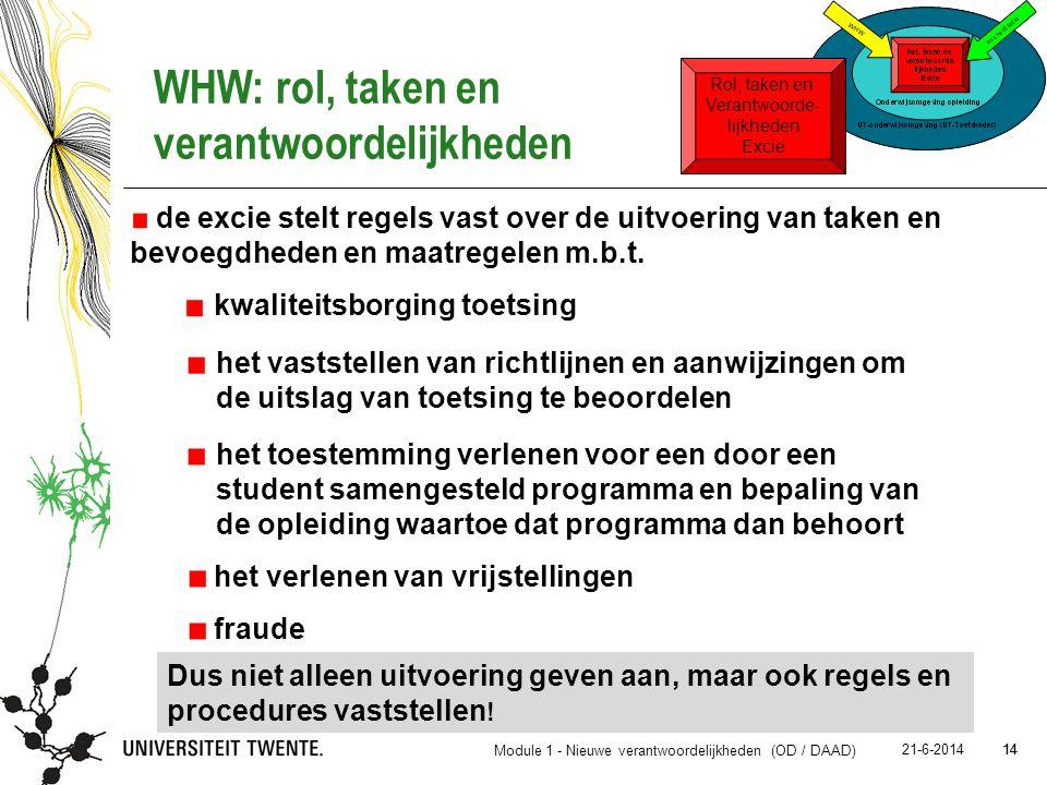 14 21-6-2014 14 de excie stelt regels vast over de uitvoering van taken en bevoegdheden en maatregelen m.b.t. Dus niet alleen uitvoering geven aan, ma