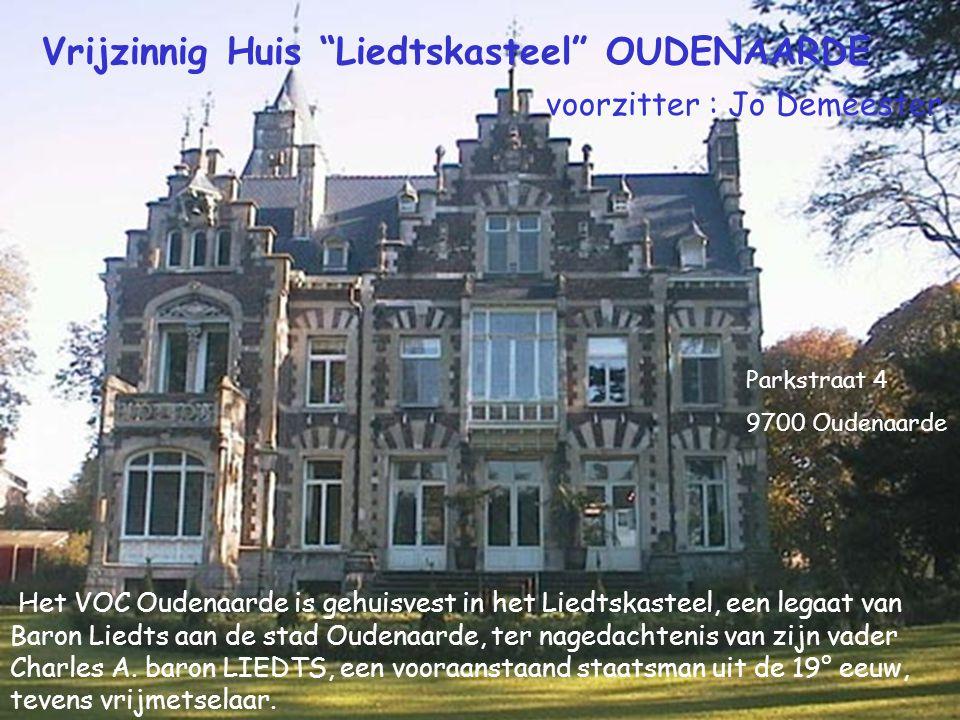 Het VOC Oudenaarde is gehuisvest in het Liedtskasteel, een legaat van Baron Liedts aan de stad Oudenaarde, ter nagedachtenis van zijn vader Charles A.