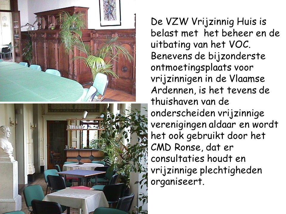 De VZW Vrijzinnig Huis is belast met het beheer en de uitbating van het VOC. Benevens de bijzonderste ontmoetingsplaats voor vrijzinnigen in de Vlaams